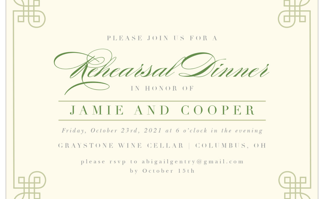Everything You Need to Know About Rehearsal Dinner Invitations